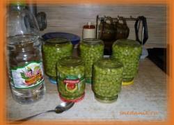 Консервированный зеленый горошек в домашних условиях— рецепт