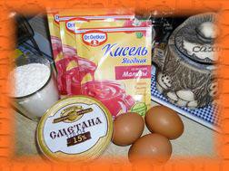 Ингредиенты для приготовления торта из киселя
