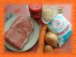 Ингредиенты для приготовления ежиков в мультиварке
