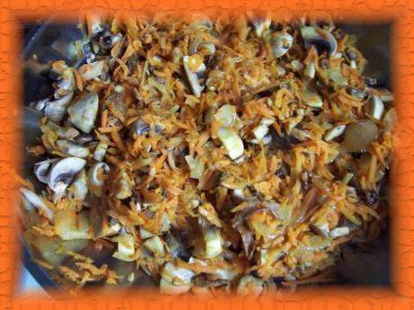 Острый салат из фасоли с грибами