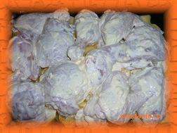 Курицу выкладываем сверху на картофель