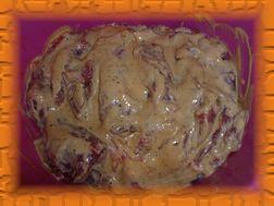 Смазать мясо приготовленной смесью и положить в прохладное место