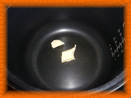 Кладем сливочное масло