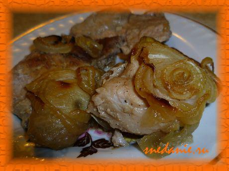 Свинина в соевом соусе в пакете для запекания