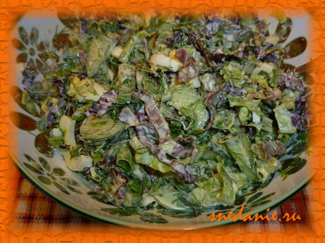 Легкий летний салат - рецепт