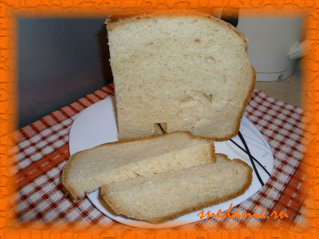 Хлеб из пшеничной муки на ряженке с кунжутом в хлебопечке